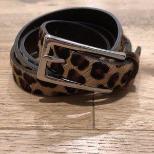 Banana Republic Leopard Print HairCalf Belt